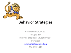 Behavior Strategies