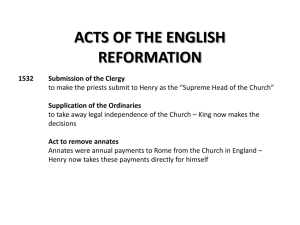 ACTS OF THE ENGLISH REFORMATION
