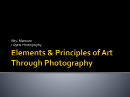 Elements & Principles of Art Through Photography