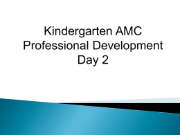Kindergarten AMC PD_Day2