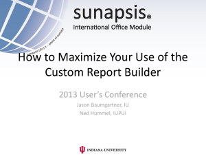 How to Maximize Your Use of the Custom Report Builder