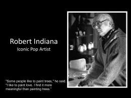 Robert Indiana and the Watercolor Project