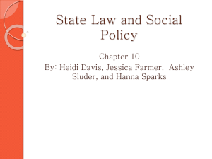 State Law and Social Policy