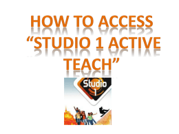 instructions how to access studio 1