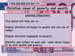 Christian views on Poverty & Wealth PowerPoint
