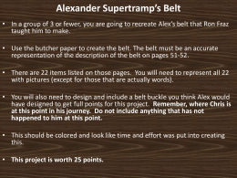 Alexander Supertramp`s Belt