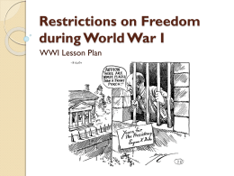 WWI primary document ppt