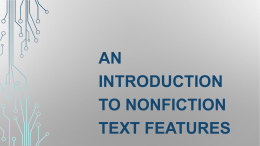 Text Features Introductory PowerPoint