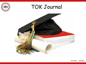 NC - TOK Journal - TOK-eisj
