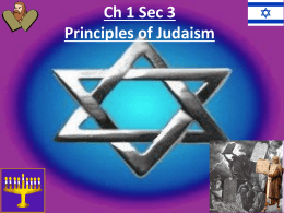 Ch 1 Sec 3 Principles of Judaism