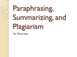paraphrasing-and-plagiarism - Academics