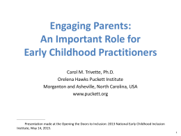 Parent Engagement session PowerPoint