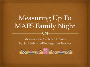 Measuring Up To MAFS Family Night