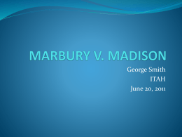 MARBURY V. MADISON - Digital Chalkboard
