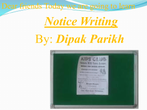Notice Writing