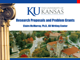 Research Proposals and Problem Grants