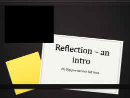 Reflection * an intro - Richard Nelson Online