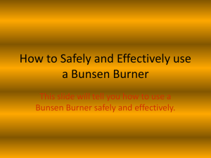 How to Safely and Effectively use a Bunsen Burner - mySchool-Yr7