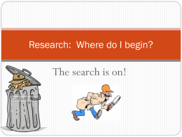 Research: Where do I begin?