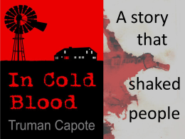 In cold blood - To-read-or-not-to-read
