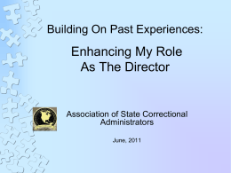 4. Building On Past Experiences - Bob Lampert