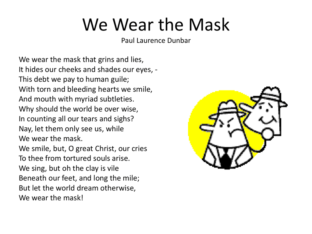 paul laurence dunbar we wear the mask pdf