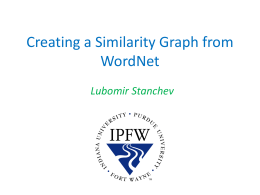 Creating a Similarity Graph from WordNet
