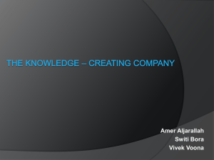 The Knowledge – Creating CompanyFinal