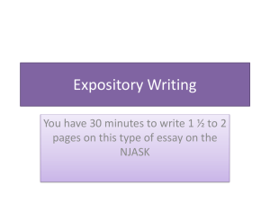 Grade 7 – Expository Writing