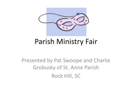 Parish Ministry Fair