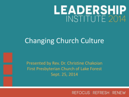 Changing Church Culture Powerpoint