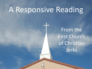 A Responsive Reading - the writings of David Drury