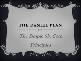 The daniel plan - Medicine From God