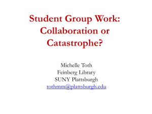Student Group Work - Faculty Web Sites