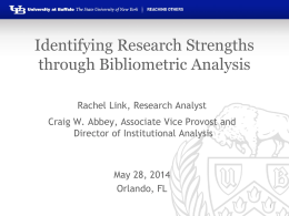Identifying Research Strengths through Bibliometric Analysis