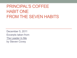 (Dec. 5) SEVEN HABITS POWERPOINT