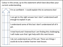Self Assessment / Reflection tools for pupils