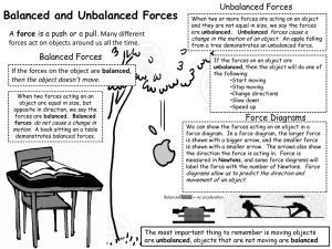 Reading: Balanced/Unbalanced Forces