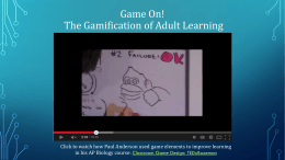 Gamification Overview PPT
