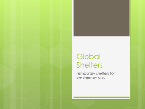 Shelters PowerPoint