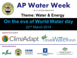 AP Water Week Celebrations at WALAMTARI from 21-03