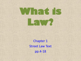 What is Law? - McCook Public Schools