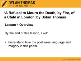 Powerpoint - Dylan Thomas