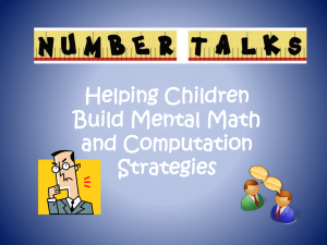 Number Talks PowerPoint
