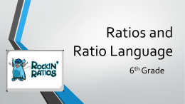 Ratios and Ratio Language