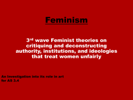 George`s Feminism Powerpoint