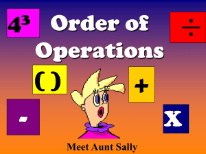 Order of operations - STEMTeachersNowPDProject