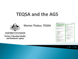 TEQSA and the AGS - Graduate Careers Australia