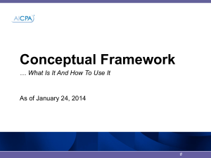 AICPA Conceptual Framework Approach and Case Study
