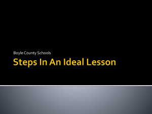 Boyle Co Steps in an Ideal Lesson ppt